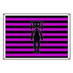 Goth Pink and Black Bunny Banner