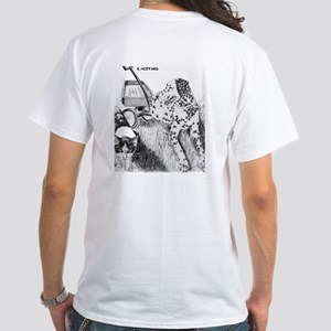Dalmation and Kitten White T-Shirt