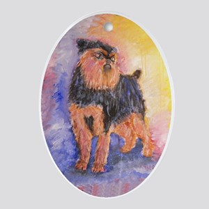 Rosie a Brussels Griffon Oval Ornament