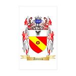 Antonio Sticker (Rectangle 50 pk)