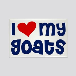 I heart (love) my Goats Rectangle Magnet