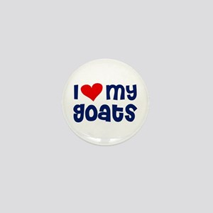 I heart (love) my Goats Mini Button