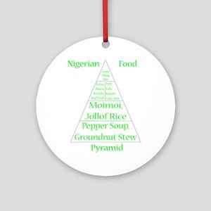 Nigerian Food Pyramid Round Ornament