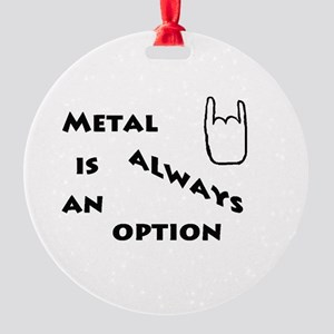 Metal Option Round Ornament