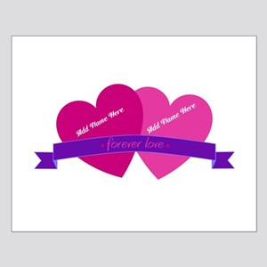 Forever Love Heart Names Posters