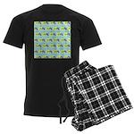 Kawaii Rainbow Pattern Men's Dark Pajamas