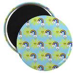 Kawaii Rainbow Pattern Magnet