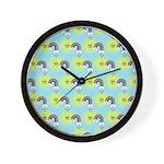 Kawaii Rainbow Pattern Wall Clock