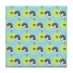 Kawaii Rainbow Pattern Tile Coaster