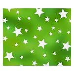 Lime Green Star Pattern King Duvet