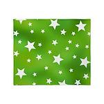 Lime Green Star Pattern Throw Blanket