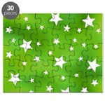 Lime Green Star Pattern Puzzle