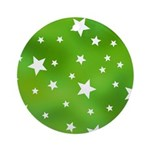 Lime Green Star Pattern Ornament (Round)