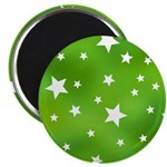 Lime Green Star Pattern Magnet