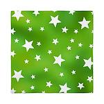 Lime Green Star Pattern Queen Duvet