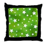 Lime Green Star Pattern Throw Pillow
