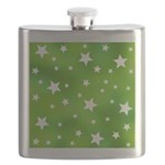 Lime Green Star Pattern Flask