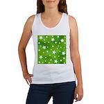 Lime Green Star Pattern Women's Tank Top