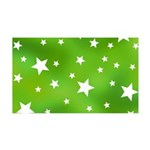 Lime Green Star Pattern 35x21 Wall Decal