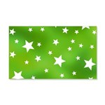 Lime Green Star Pattern 20x12 Wall Decal