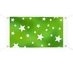 Lime Green Star Pattern Banner