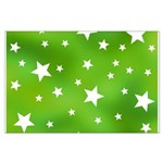 Lime Green Star Pattern Large Poster