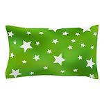 Lime Green Star Pattern Pillow Case