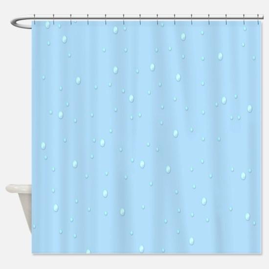 Baby Blue Raindrops Shower Curtain