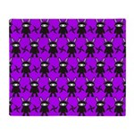 Purple and Black Ninja Bunny Pattern Stadium Blan