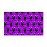 Purple and Black Ninja Bunny Pattern Wall Decal