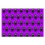 Purple and Black Ninja Bunny Pattern Posters