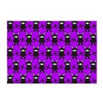 Purple and Black Ninja Bunny Pattern 5'x7'Area Rug