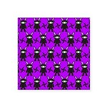 Purple and Black Ninja Bunny Pattern Sticker