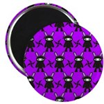 Purple and Black Ninja Bunny Pattern Magnet