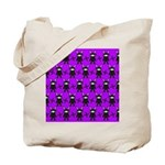 Purple and Black Ninja Bunny Pattern Tote Bag