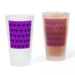 Purple and Black Ninja Bunny Pattern Drinking Glas