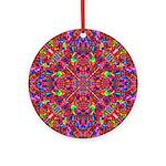 Pink Mandala Pattern Ornament (Round)