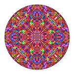 Pink Mandala Pattern Round Car Magnet