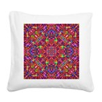 Pink Mandala Pattern Square Canvas Pillow