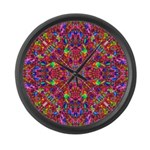 Pink Mandala Pattern Large Wall Clock