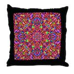 Pink Mandala Pattern Throw Pillow