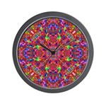 Pink Mandala Pattern Wall Clock