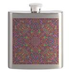 Pink Mandala Pattern Flask