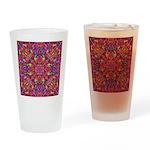 Pink Mandala Pattern Drinking Glass