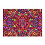 Pink Mandala Pattern 5'x7'Area Rug