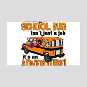 Driving a School Bus 35x21 Wall Decal