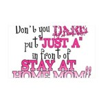Not Just a SAHM 35x21 Wall Decal
