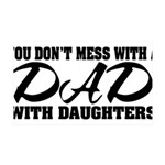 Dad with Daughters 35x21 Wall Decal