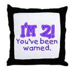 warnedabout2 Throw Pillow