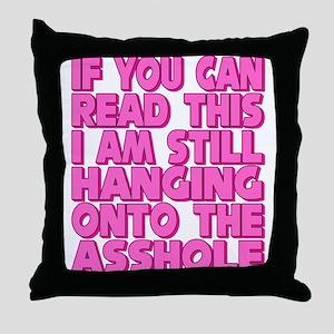 Still Hanging On! Throw Pillow
